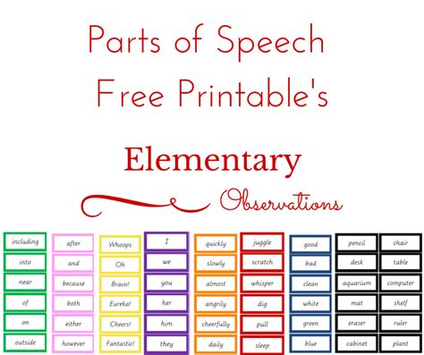 free printable montessori grammar symbols elementary observations grammar printables