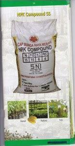 Pupuk Kcl Bunga Raya jual pupuk npk compound 55te cap bunga raya merah kios