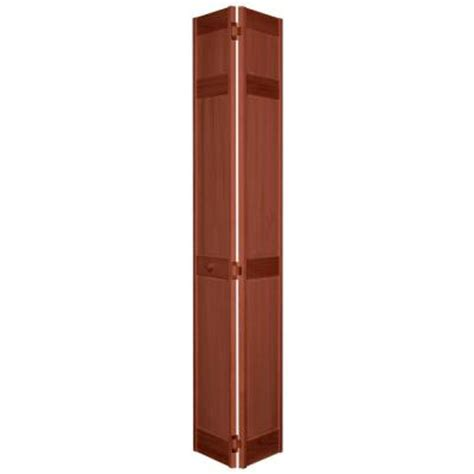18 In X 80 In 6 Panel Cherry Composite Interior Bi Fold 18 Bifold Closet Door