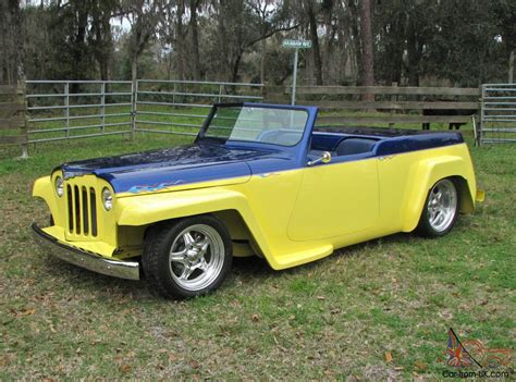 custom willys jeepster 1948 willys overland jeepster street rod custom