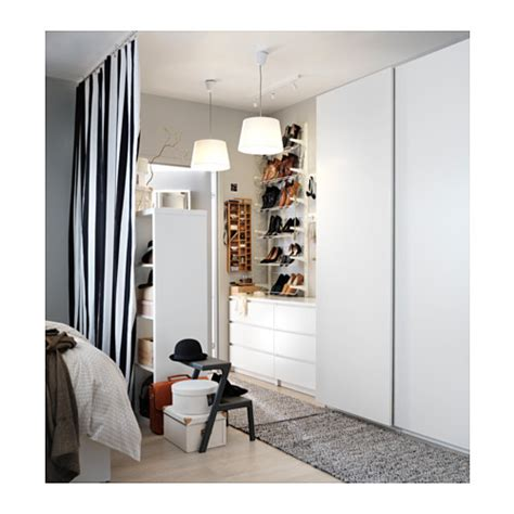 Pax Malm Wardrobe by Pax Wardrobe White Hasvik White 150x66x236 Cm