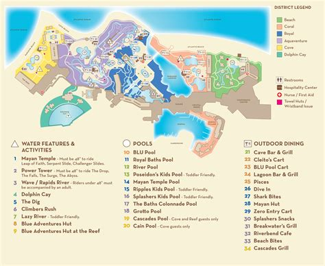 atlantis bahamas map map of aquaventure in atlantis pictures to pin on pinsdaddy