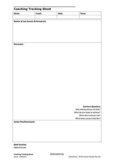 coaching notes template simple coaching tracking sheet