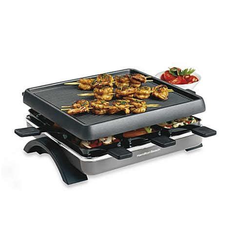 bed bath and beyond grill hamilton beach 174 raclette party grill bed bath beyond