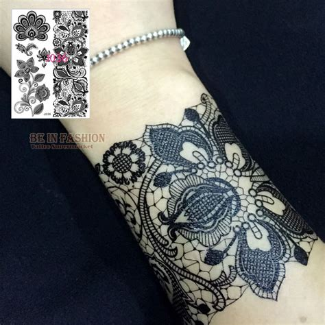 henna tattoo zwart aliexpress buy 1pc black white henna lace