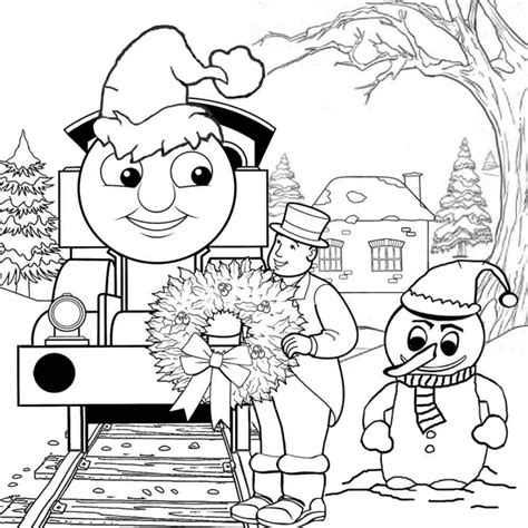 thomas train outline coloring coloring pages
