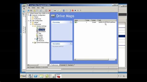gpo mapped drives map a network drive to a shared folder in windows server