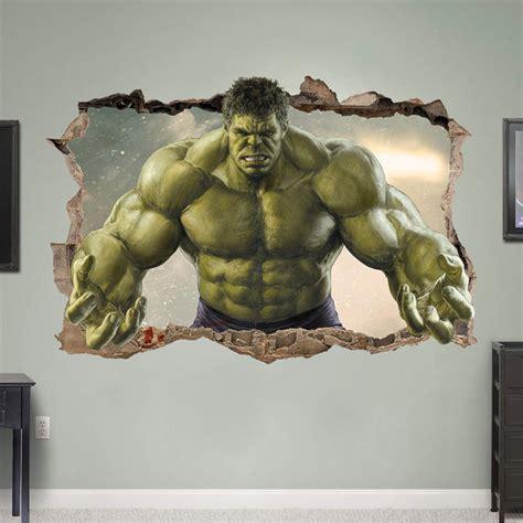 hulk bedroom hulk 3d wall sticker smashed bedroom green door supertopwalldecals kids room