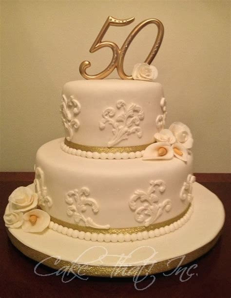 50th Wedding Anniversary Cakes by Cake That Inc 50th Wedding Anniversary