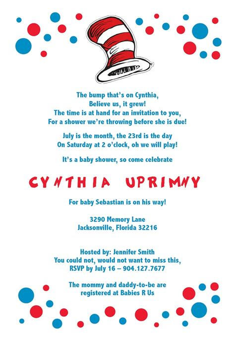 Dr Seuss Baby Shower Invitations Etsy by 93 Best Baby Shower Ideas Images On Baby