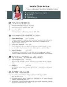 Plantilla De Curriculum Vitae De Profesores Elaboraci 243 N Curriculum De Profesores Plantillas De Cv Para Enviar A Colegios Privados