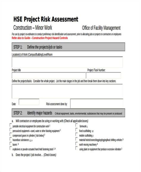 Notylen Rapat by Generic Risk Assessment Template 26 Risk Assessment