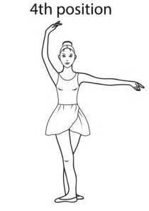 position coloring book disegno di quarta posizione di danza classica da colorare