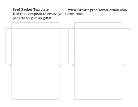 Seed Packet Template For Children