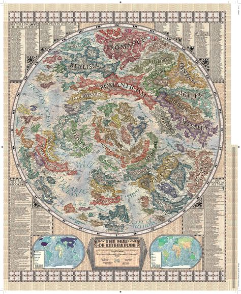 libro the curious map book the map of literary genres every book nerd needs huffpost