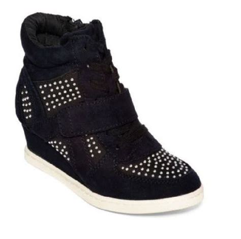 stevies shoes glitz high top wedge sneakers blackgirls