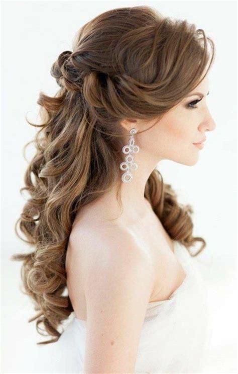 Brautfrisuren Halb Offen Locken brautfrisuren lange haare romantische wellen