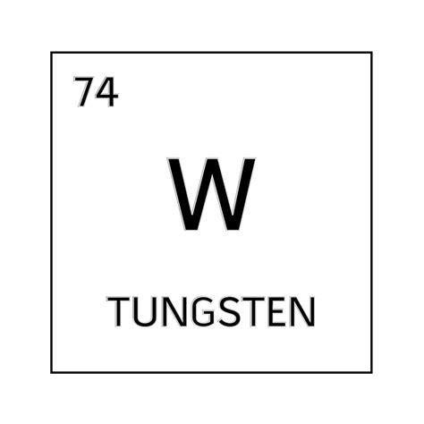 black and white element cell for tungsten science notes