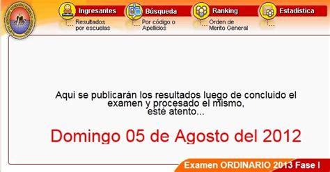 pagina de resultados del examen de categoria de docentes bolivia p 193 gina postulante unsa 2013 resultados admisi 211 n 05 agosto