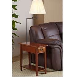 End Table L Combo Chairside Oak End Table With Swing Arm L End Tables At Hayneedle