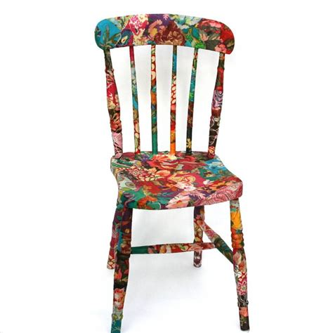 decoupage fabric to wood fabric decoupage wooden chair the craft