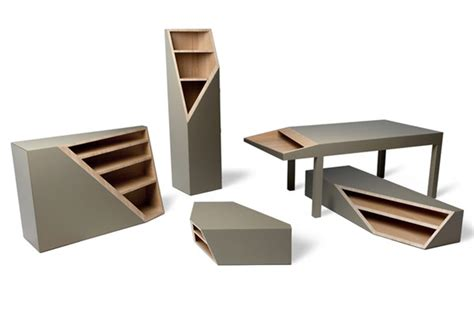 cutline collection of wood furniture by alessandro busana