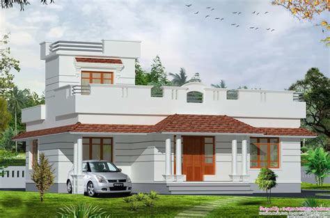one floor houses kerala style 2bhk budget home design at 1200 sq ft