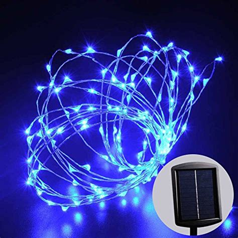 blue solar string lights triyae solar outdoor lights string various design