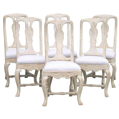 Rococo Dining Chairs Set Of Six Swedish Rococo Style Dining Chairs Circa 1880 For Sale At 1stdibs