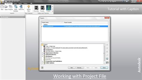 format file inventor working with project file autodesk inventor youtube