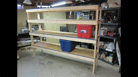storage shelf cheap  easy build plans youtube
