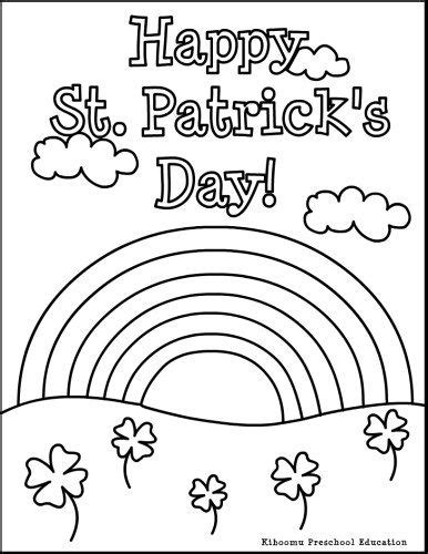 free coloring pages of happy st patricks day