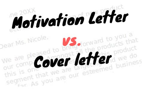 Introduction Letter Vs Cover Letter what is a motivation letter motivational letter