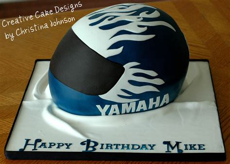Motorcycle Helmet Cake   Made to match the birthday boys act   Flickr