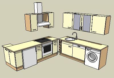 parts of a kitchen cabinet sketchup components 3d warehouse kitchen sketchup