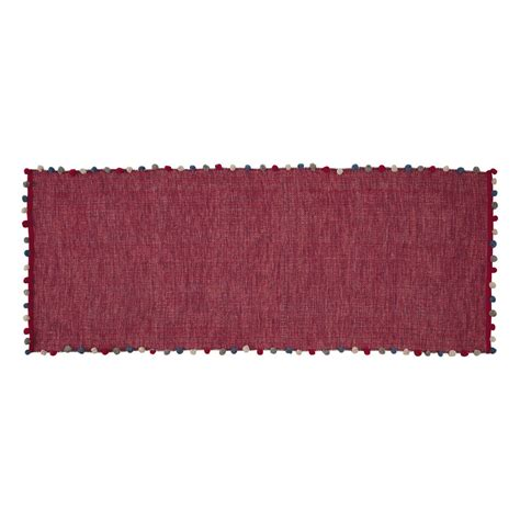 Fuchsia Rug by Pompon Cotton Rug In Fuchsia Pink 80 X 200cm Maisons Du