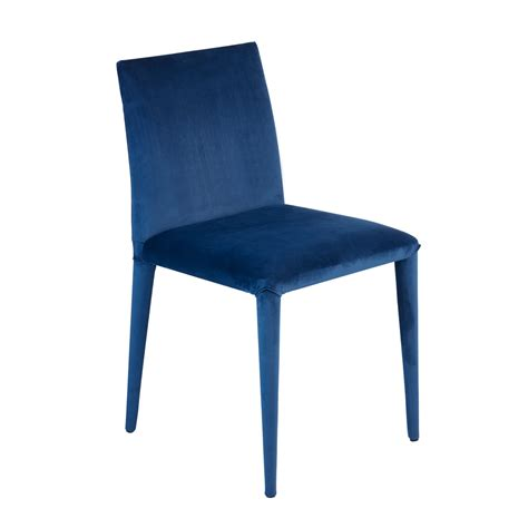 Blue Velvet Dining Chairs Antonio Dining Chair Blue Velvet Dwell