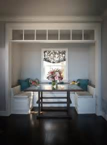 built in banquette traditional dining room andrea may
