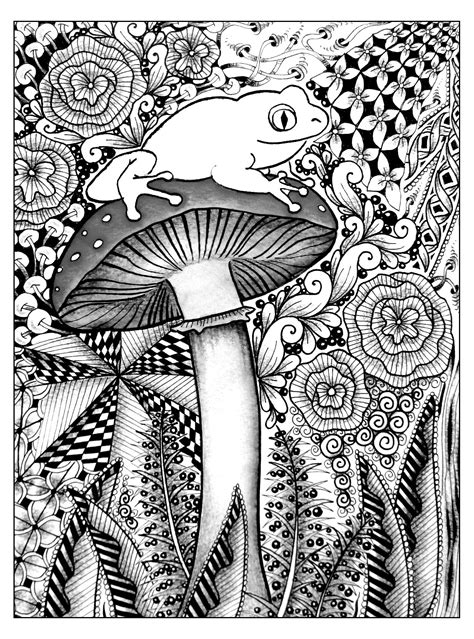 Frog jungle   Jungle & Forest   Coloring pages for adults