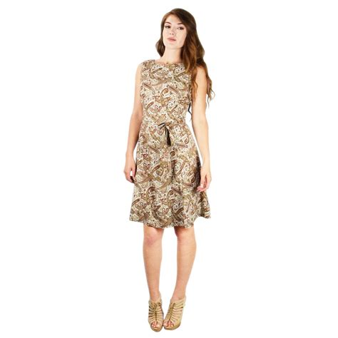 vintage inspired pattern a line shift dress with fabric