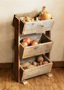 Wooden Home Decor Items Potato Bin Vegetable Bin Scandinavian Barn Wood Rustic Kitchen Decor Handmade Potato