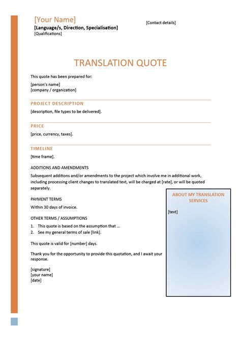 How To Write Compelling Translation Quotes How To Write A Quote For A Template