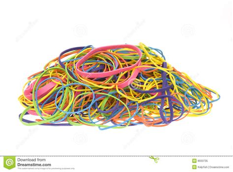 colored rubber bands pile of colored rubber bands stock image image 8933735