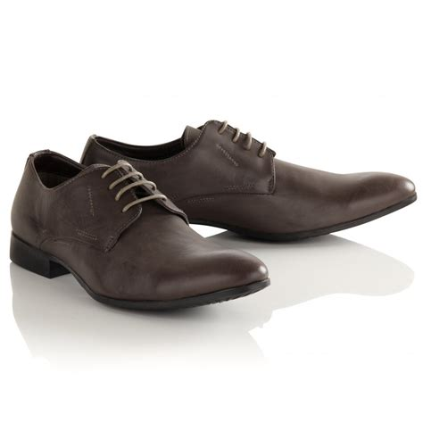 mens grey smart formal shoes