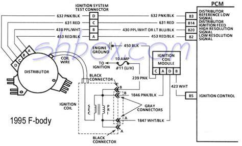 lt1 distributor wiring diagram 4th lt1 f tech aids