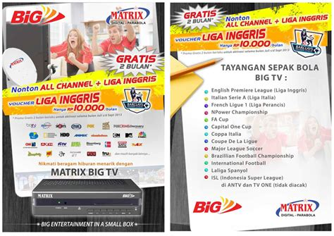 Harga Matrix Soccer jual parabola big tv matrix prepaid di malang