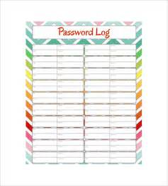 password log template 9 password spreadsheet templates free word excel pdf