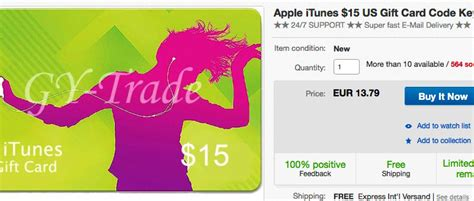 Itunes Gift Cards On Ebay - easy method 187 make us itunes purchase from any country