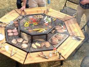 Patio Table Grill Diy Grill Out Patio Table Pallet Perfection