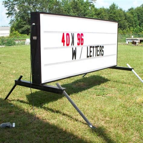 Illuminated Changeable Letter Portable Sign